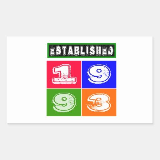 21 Birthday Designs Sticker