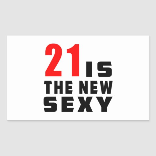 21 birthday designs rectangle stickers