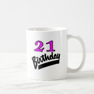 21 Birthday Pink And Black Mug