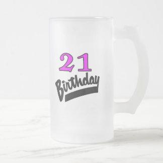 21 Birthday Pink And Black Coffee Mug