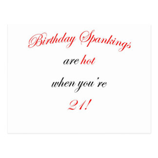 21  Birthday spankings are hot! Postcard