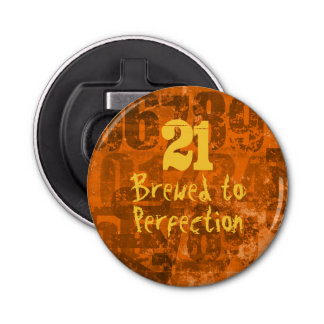21 Brewed To Perfection Grunge Numbers Birthday
