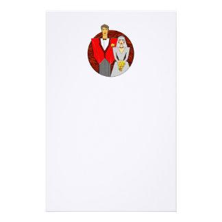 21 Century Wedding Couple Personalized Stationery