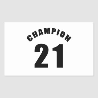 21 champion designs rectangular sticker