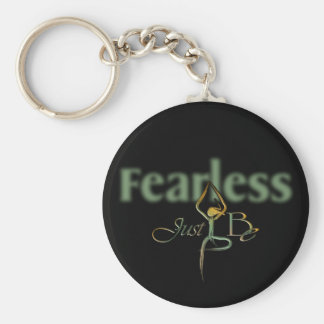 21 Fearless Basic Round Button Key Ring