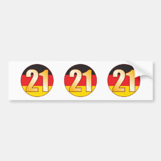 21 GERMANY Gold Bumper Sticker