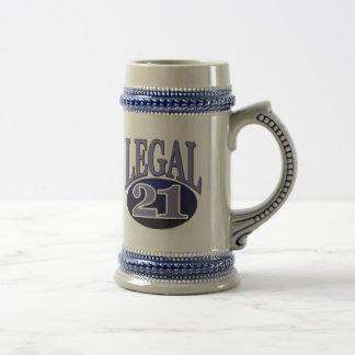 21 & Legal Birthday 18 Oz Beer Stein