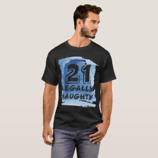 21 Legally Naughty Happy Birthday Party T-Shirt