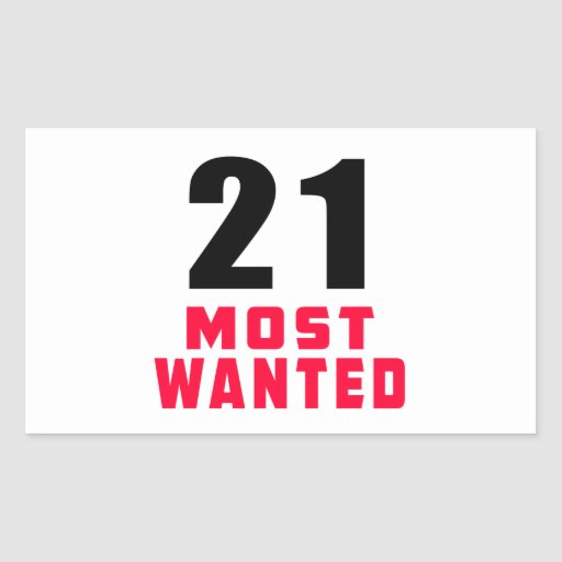 21 Most Wanted Funny Birthday Design Sticker