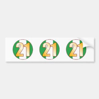 21 NIGERIA Gold Bumper Sticker