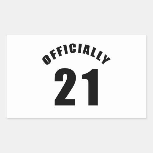 21 Officially Design Rectangle Sticker
