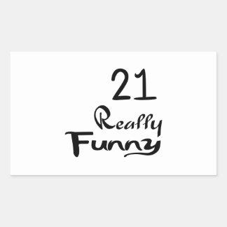 21 Really Funny Birthday Designs Rectangular Sticker