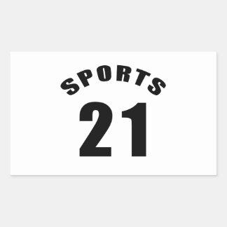 21 Sports Birthday Designs Sticker