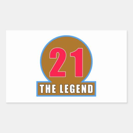 21 The Legend Birthday Designs Sticker