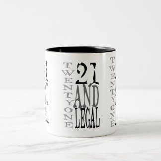 21 Twenty One Legal Drinking Twenty One Two-Tone Coffee Mug