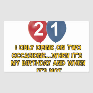 21 year old birthday designs stickers