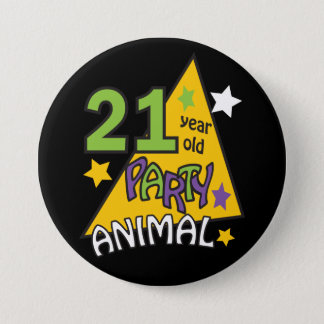 21 Year Old Party Animal | 21st Birthday 7.5 Cm Round Badge