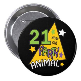 21 Year Old Party Animal | 21st Birthday 7.5 Cm Round Badge