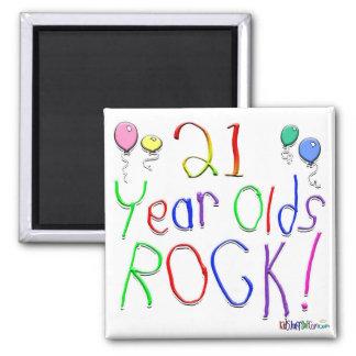 21 Year Olds Rock Fridge Magnets