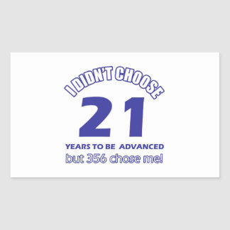 21 years advancement rectangle stickers