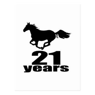 21 Years Birthday Designs Postcard