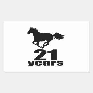 21 Years Birthday Designs Rectangular Sticker