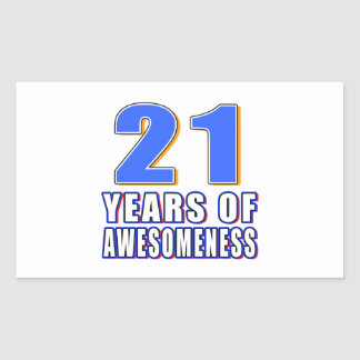 21 Years of Awesomeness Stickers
