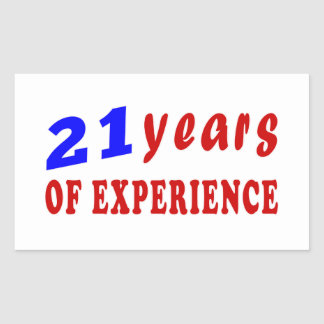 21 years of experience sticker