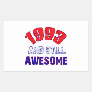 21 years Old birthday designs Rectangular Sticker