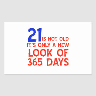 21 years Old birthday designs Rectangle Stickers