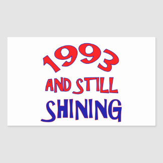 21 years Old birthday designs Rectangular Stickers