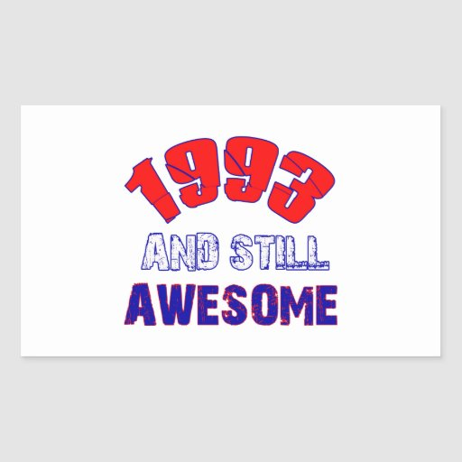 21 years Old birthday designs Rectangle Sticker