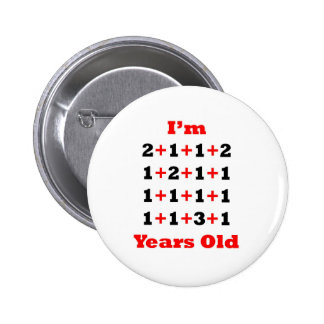 21 Years old! Blk Red 6 Cm Round Badge