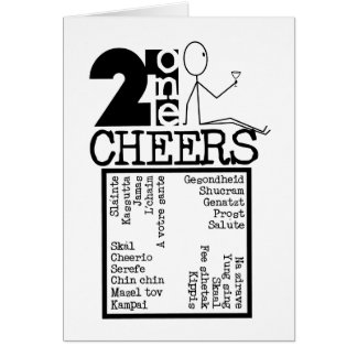 21CheersB&W Card