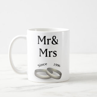 21st anniversary matching Mr. And Mrs. Since 1996 Coffee Mug