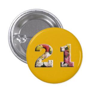 21st Birthday 21 Years Milestone Button