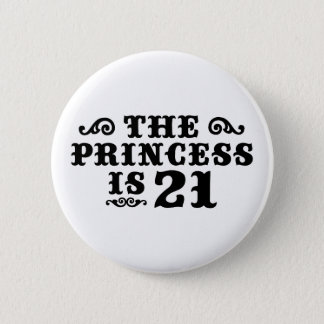 21st Birthday 6 Cm Round Badge