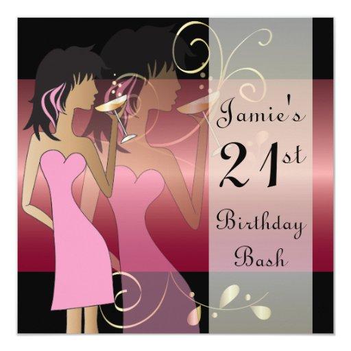 21st Birthday Bash Party Invitation