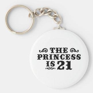 21st Birthday Basic Round Button Key Ring