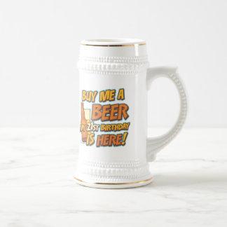 21st Birthday Beer Beer Steins