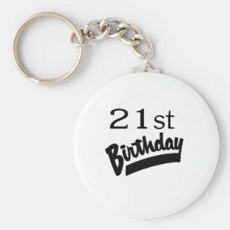 21st Birthday Black Keychains