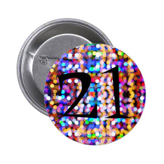 21st Birthday Bright and Colourful 6 Cm Round Badge