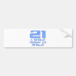 21st Birthday Car Bumper Sticker