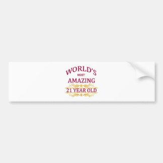 21st. Birthday Bumper Sticker