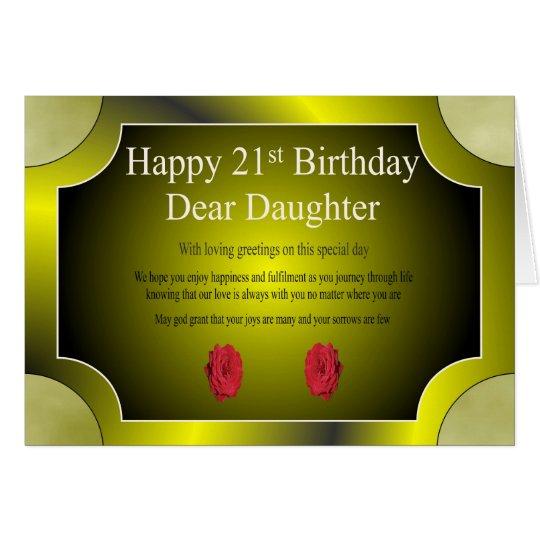 21st Birthday Card (Daughter) | Zazzle