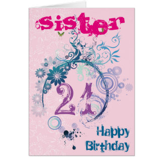 21st Birthday Card for Sister