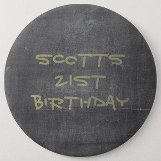 21st Birthday Chalkboard 6 Cm Round Badge