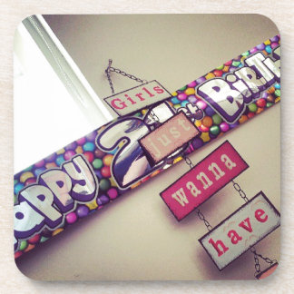 21st Birthday Beverage Coaster