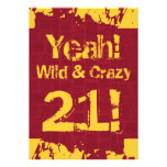 21st Birthday Damask Paint Splash Wild and Crazy