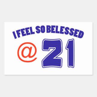 21st Birthday Design Rectangular Sticker